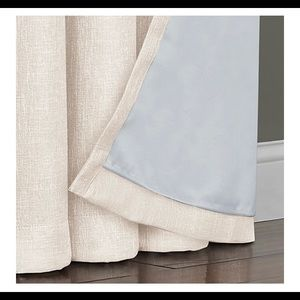 "95"" Grommet Blackout Window Curtain Panel White"